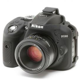 Capa / Case Silicone Para Proteção Nikon D5300 Preta