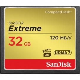 Cartão Compact Flash (CF) Sandisk 32gb Extreme 120MB