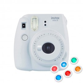 Câmera Instantânea Instax Mini 9 Com 6 Filtros - Branco Gelo