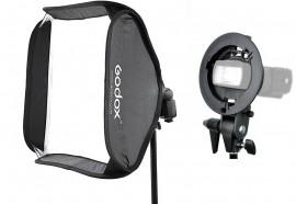 Softbox 60x60cm Flash Dedicado Speedlight Godox Com Difusor