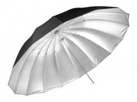 Sombrinha Rebatedora Preta / Prata Greika - 140cm