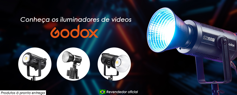 Iluminadores de vídeos Godox - Markotec revendedora oficial