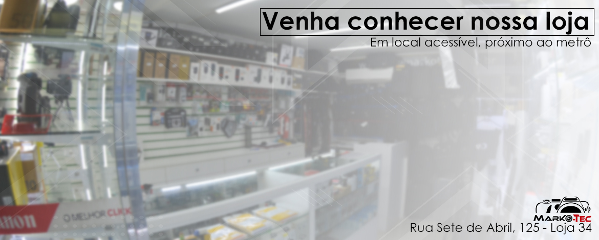 Venha conhecer a nossa loja física no centro de São Paulo
